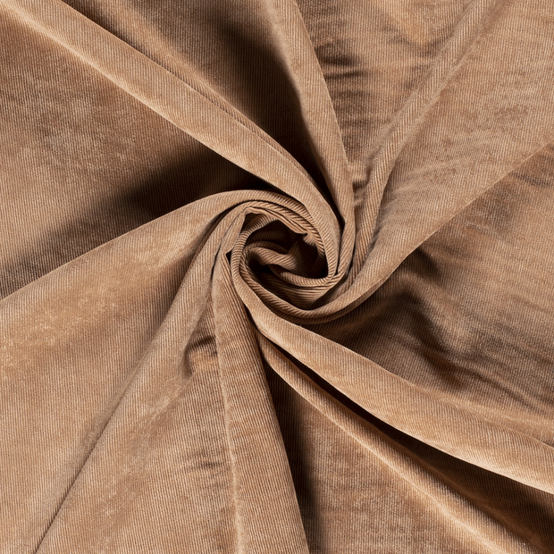 Corduroy fabric Unicolour Camel