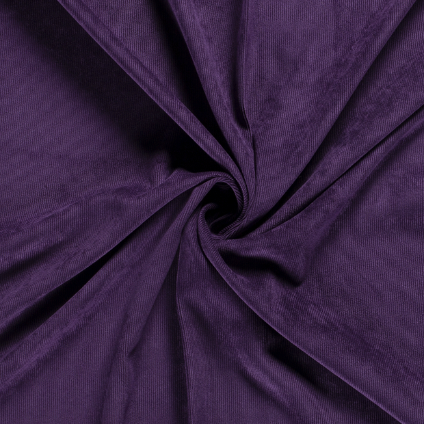 Corduroy fabric Unicolour Aubergine