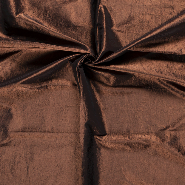 Taffeta fabric Bronze crushed