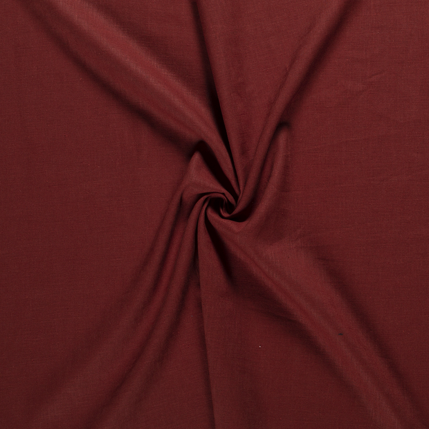 Pure linen fabric Brique