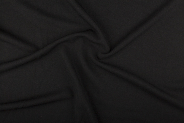 Polyester Mix fabric Unicolour Black