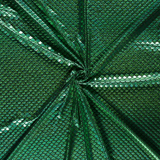 Foil jersey fabric Lime Green