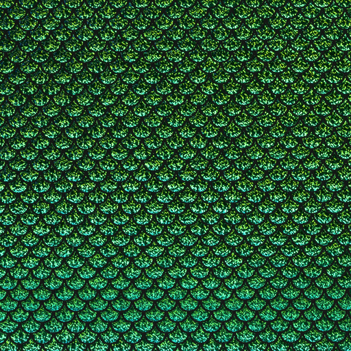 Foil jersey fabric Diamonds Lime Green