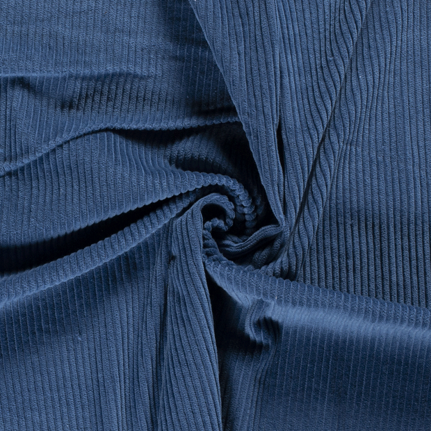 Corduroy fabric Unicolour Indigo