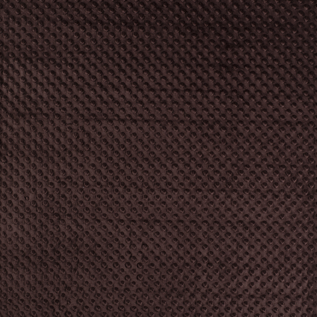 Minky fabric Dark Brown soft