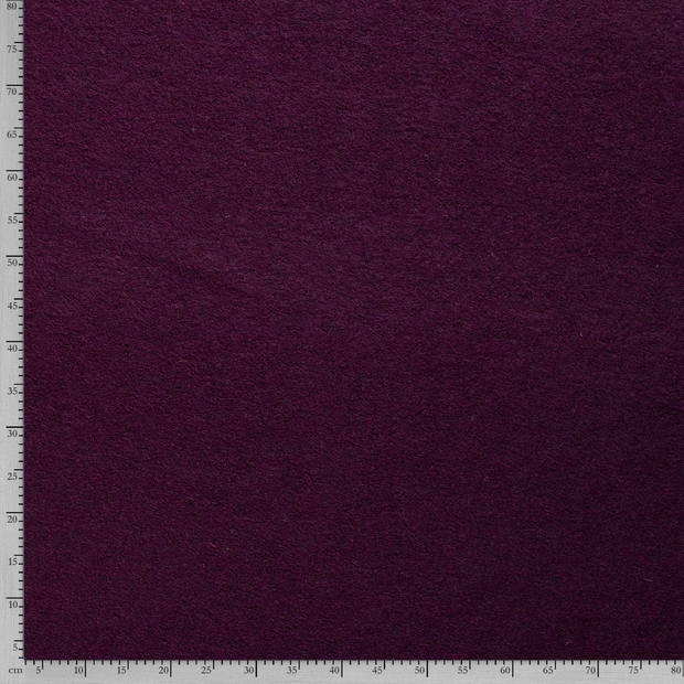 Boiled wool fabric Unicolour Wine red