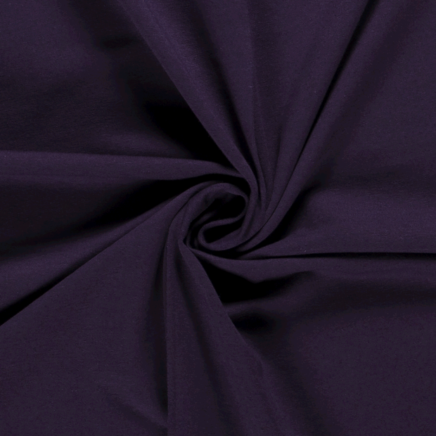 French Terry fabric Unicolour Aubergine