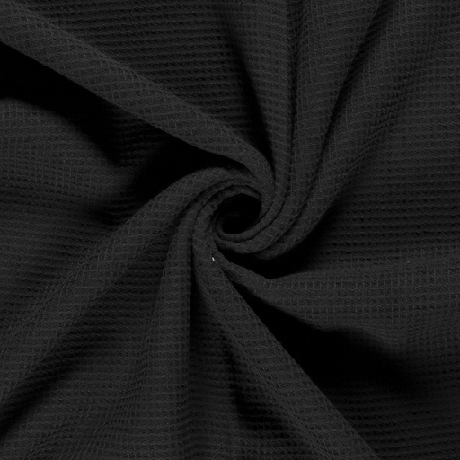 Towelling fabric Unicolour Black