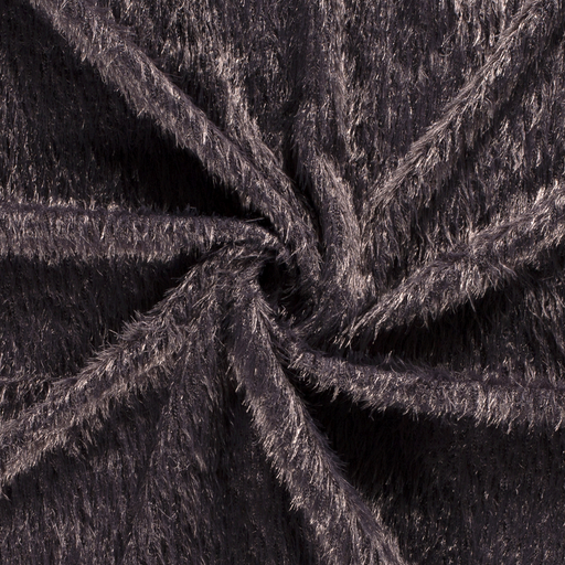 Faux fur fabric Unicolour Dark Grey