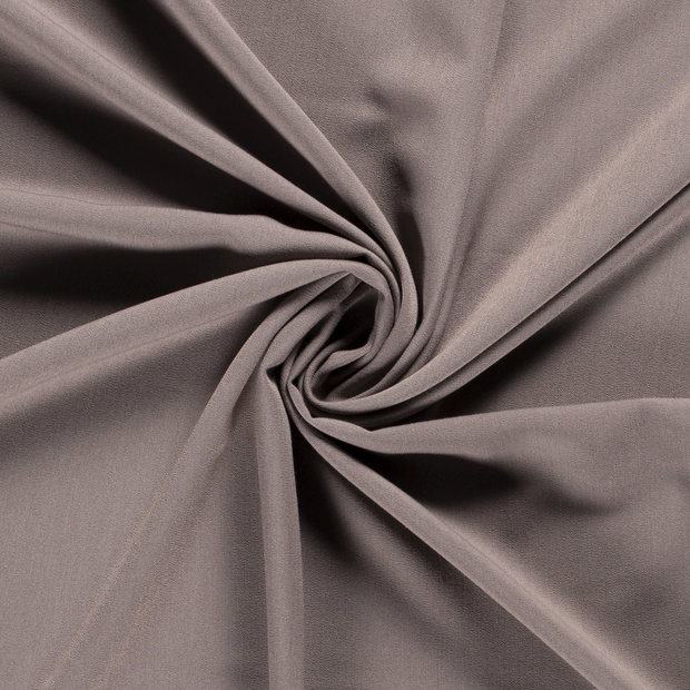 Gabardine fabric Unicolour Taupe Brown