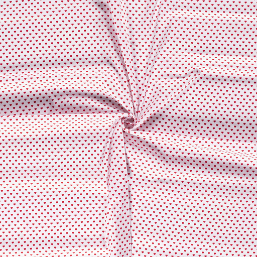Poplin fabric Optical White printed