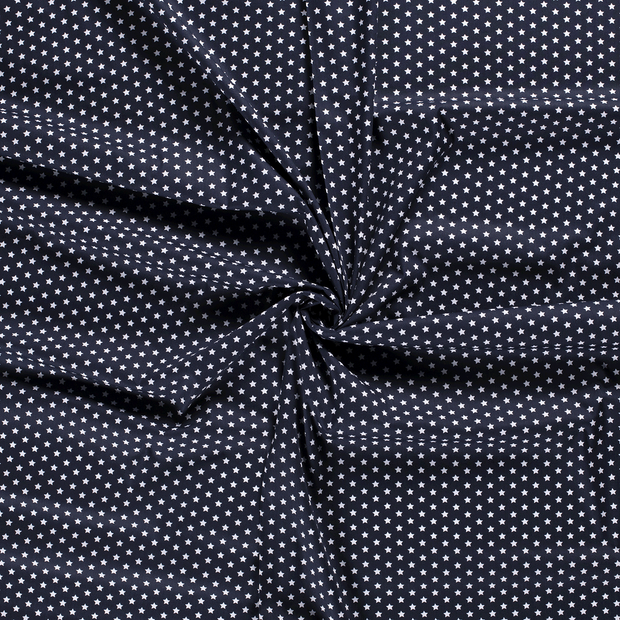 Poplin fabric Navy printed