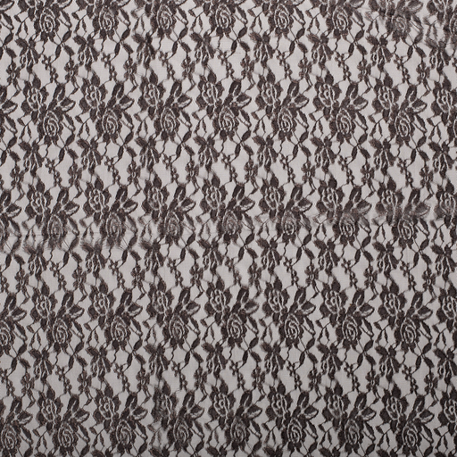 Lace fabric Dark Brown slightly shiny