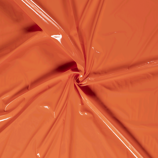 Lacquer fabric Orange PUR-coated