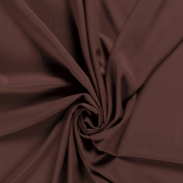 Georgette fabric Unicolour Brown