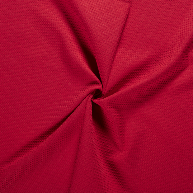 Towelling fabric Red