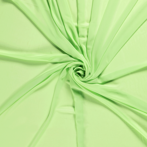 Chiffon fabric Lime Green