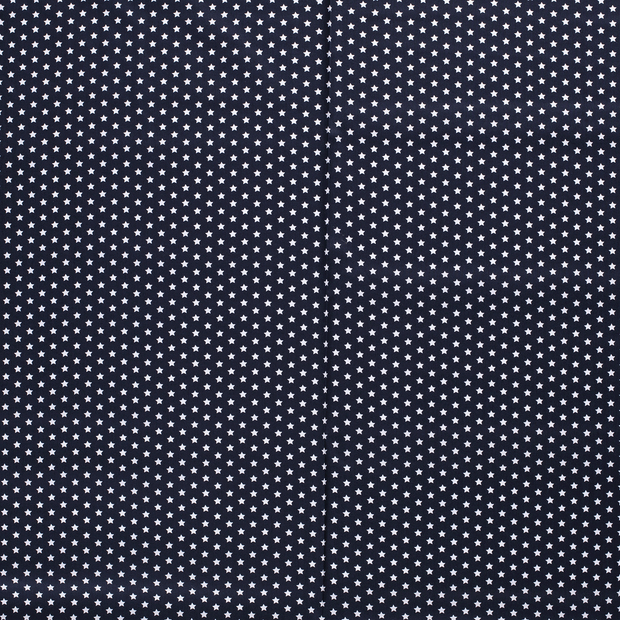 Poplin fabric Navy soft