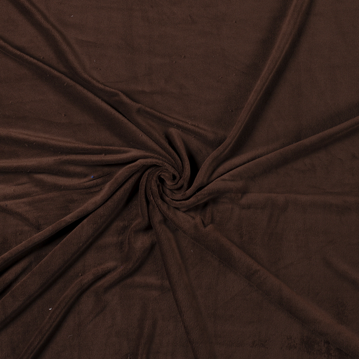 Fleece fabric Dark Brown