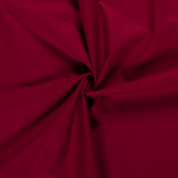 Cretonne fabric Unicolour Dark Red