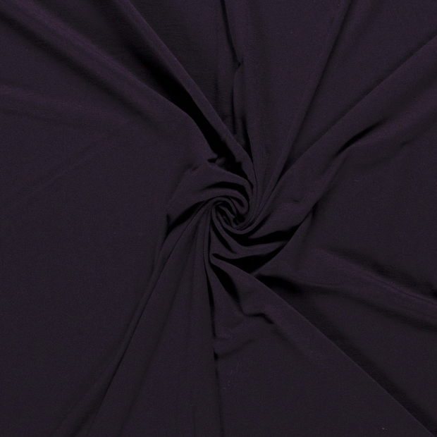 Jersey fabric Unicolour Carbon
