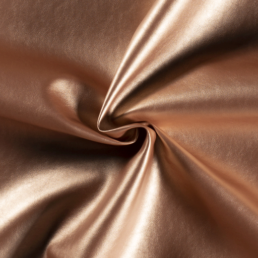 Imitation leather fabric Unicolour Rose Gold