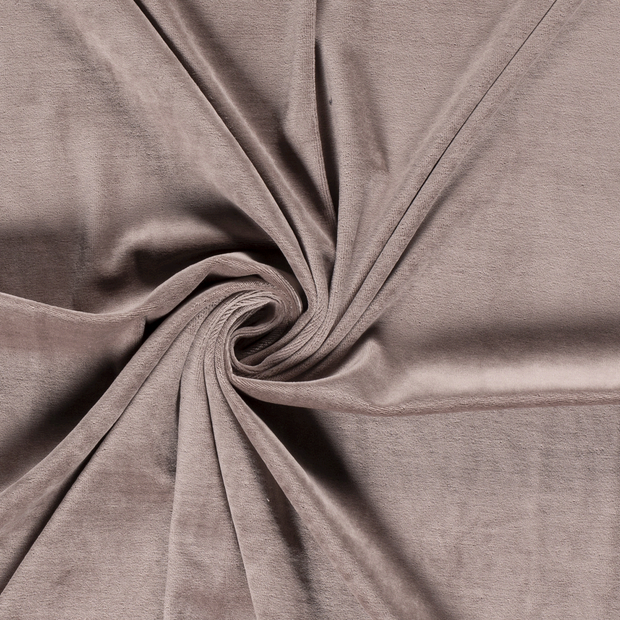Nicky velours fabric Unicolour Taupe Brown