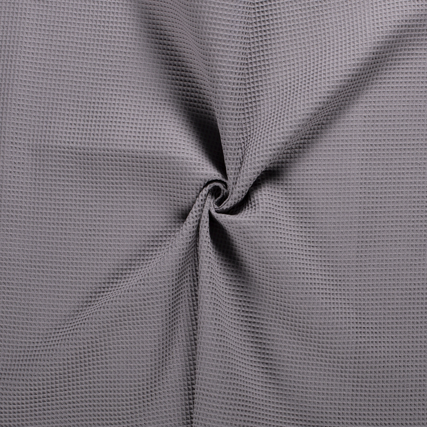 Towelling fabric Middle Grey