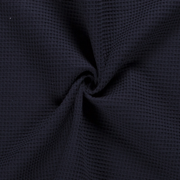Towelling fabric Unicolour Navy