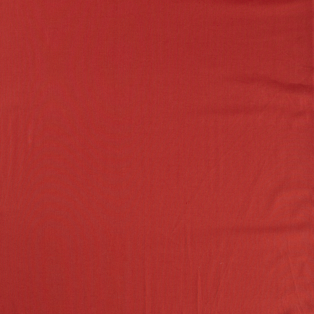 Poplin fabric Brique matte