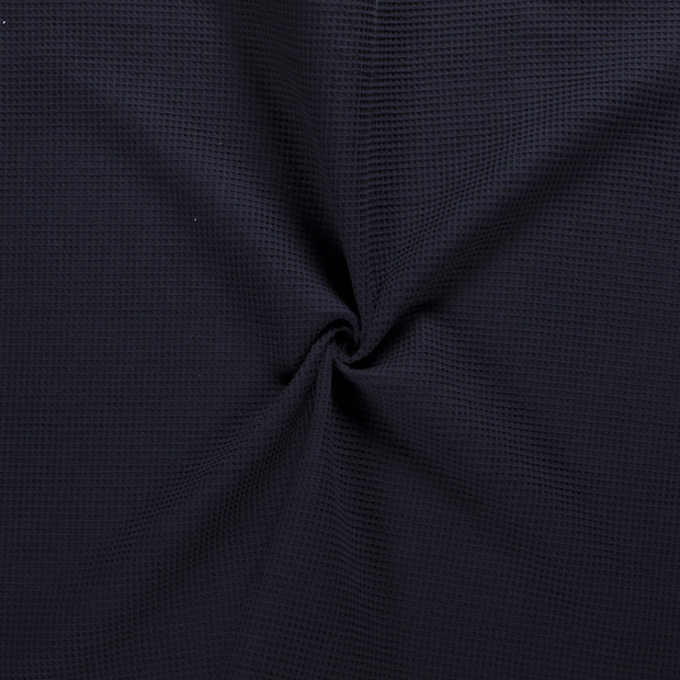 Towelling fabric Navy