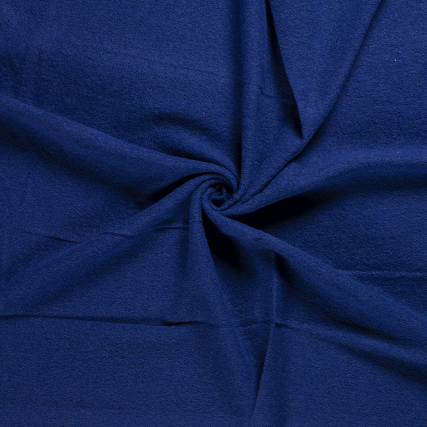 Boiled wool fabric Cobalt
