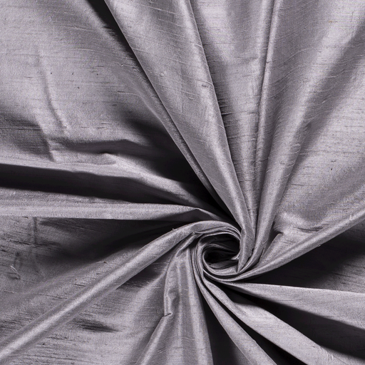 Silk Dupion fabric Unicolour Middle Grey