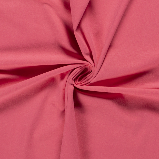Tricot fabric Unicolour Dark Pink