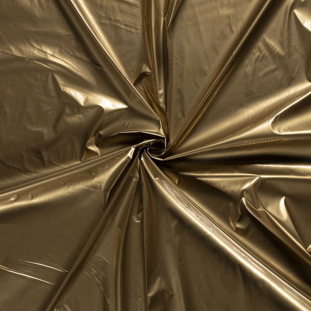 Lacquer fabric Gold PUR-coated