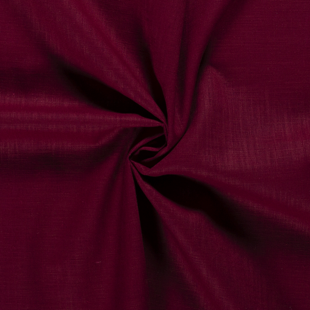 Pure linen fabric Unicolour Wine red