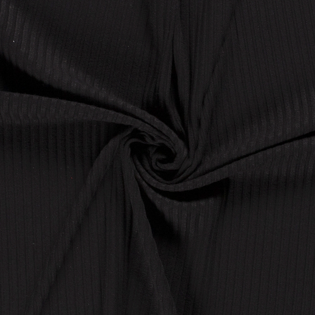 Knitted fabric fabric Unicolour Black