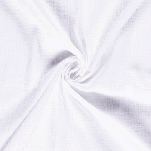 Muslin fabric Unicolour Optical White