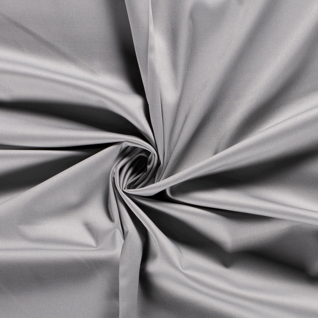 Satin fabric Unicolour Middle Grey