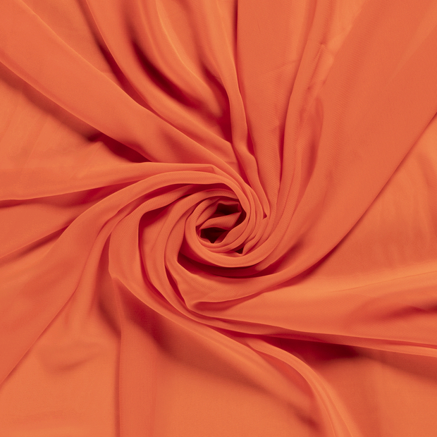 Chiffon fabric Unicolour Orange