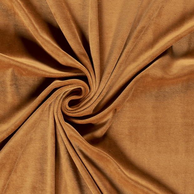 Nicky velours fabric Unicolour Camel