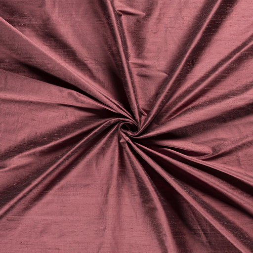 Silk Dupion fabric Old Pink