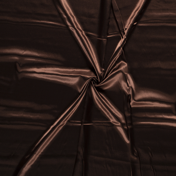 Satin fabric Brown