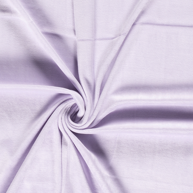 Nicky velours fabric Unicolour Lavender