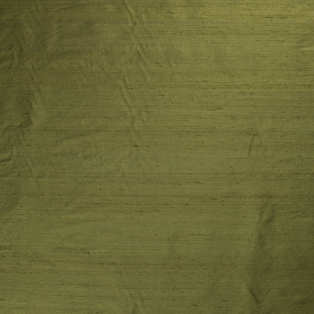 Silk Dupion fabric Khaki Green slightly shiny