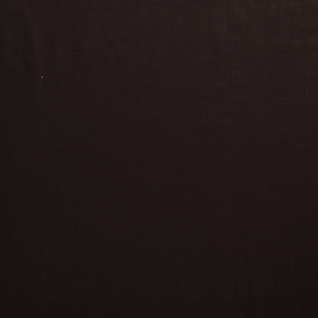 Pure linen fabric Dark Brown matte