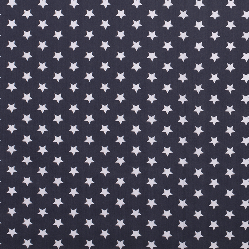 Poplin fabric Stars Dark Grey