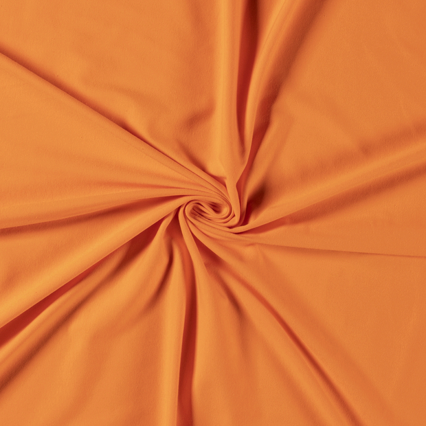 Tricot fabric Unicolour Orange