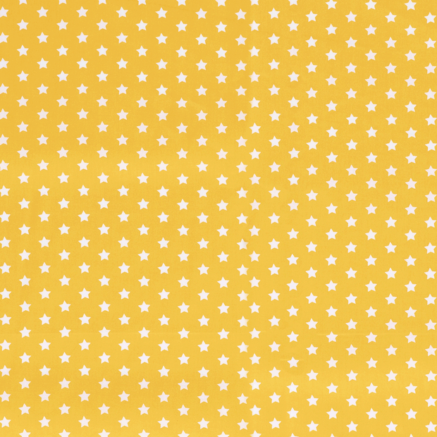 Poplin fabric Stars Yellow