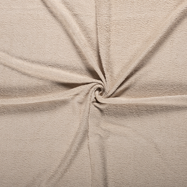 Towelling fabric Beige